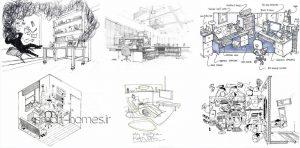 دیاگرام های اولیه طراحی ساختمان